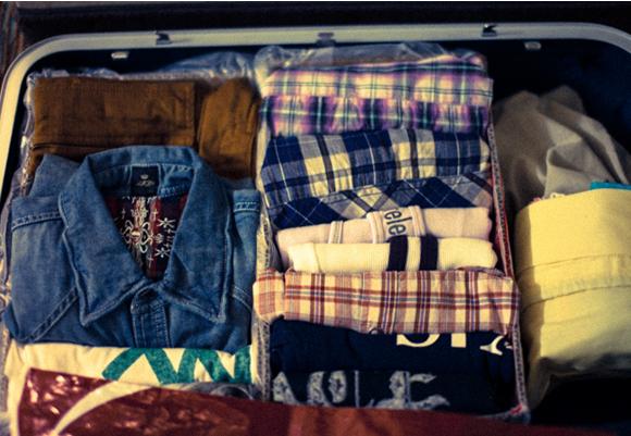 少ない荷物で気楽な旅に