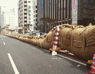 """那覇大""""ツナ""""挽まつり"""