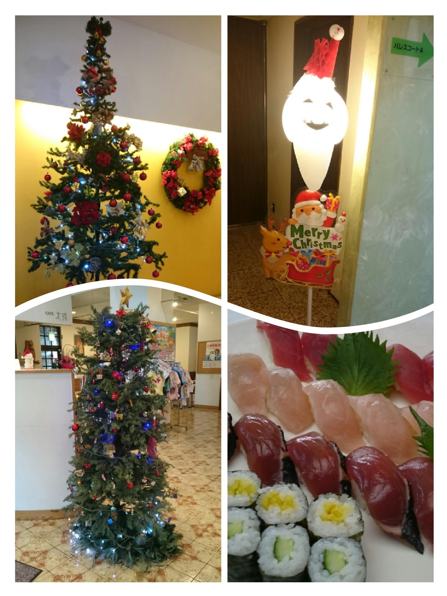 クリスマスツリー サンタクロース? 宴会料理