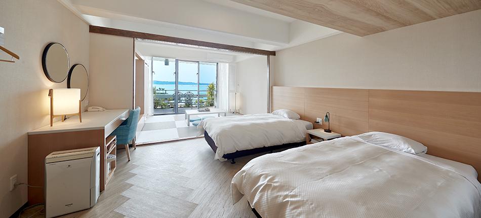 姉妹ホテル「ムーンビーチパレスホテル」客室リニューアルのお知らせ♪
