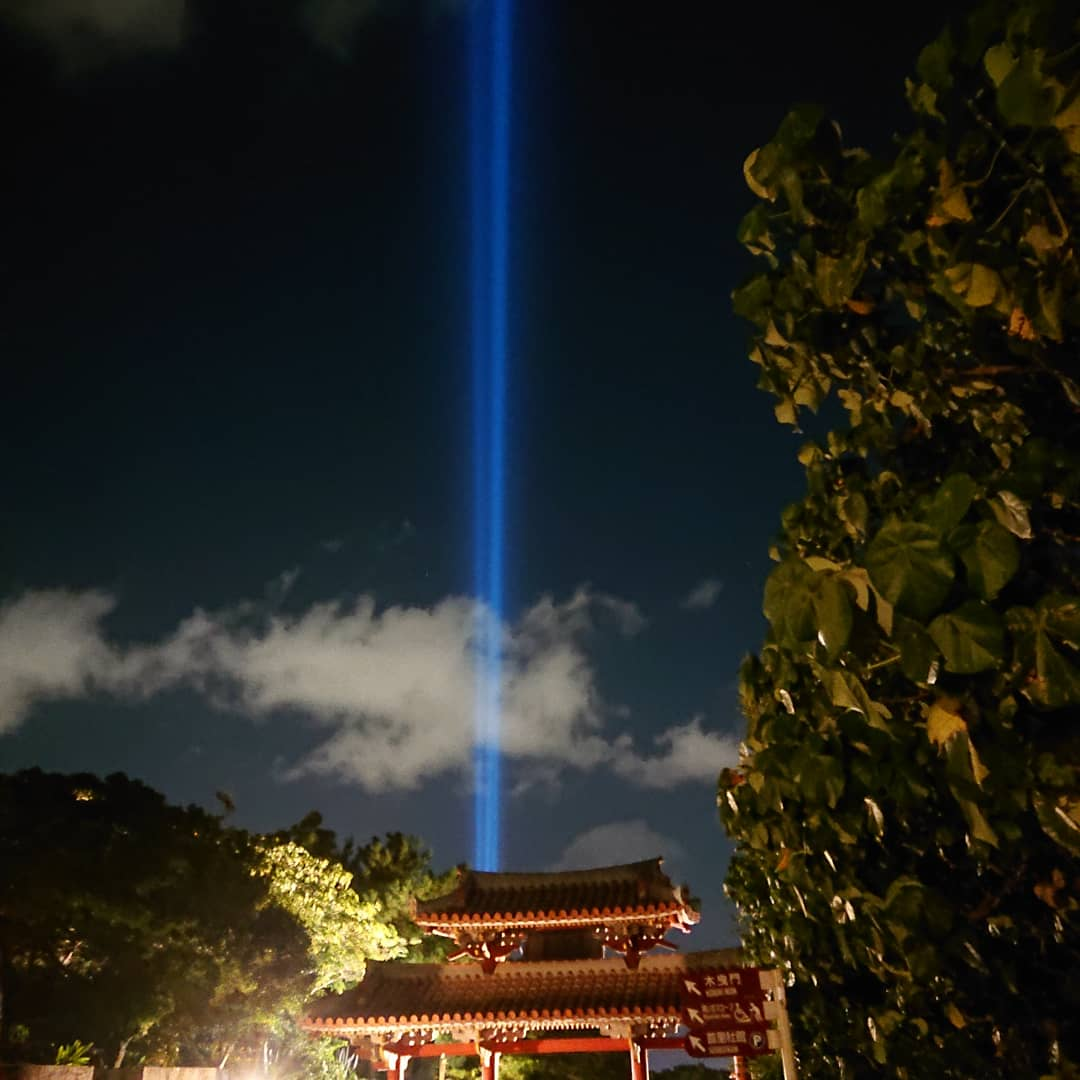 首里城うむいの燈スリーライツとランタン夜市